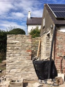 lime and stone built extension