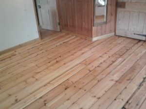 reclaimed timber floor